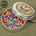 COLOR SKULL HEAD BEADS ASSORT KIT CAN