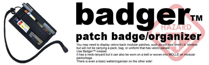BADGER PATCH BADGE・ORGANIZER / HAZARD4