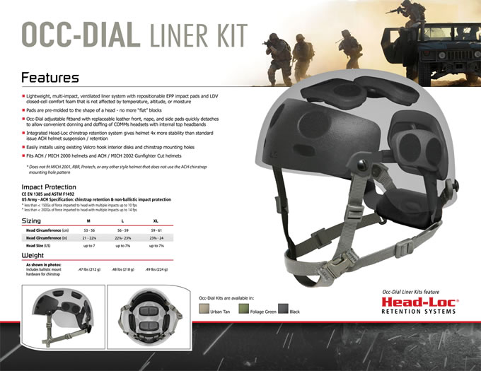 OCC DIAL LINER KIT / OPS-CORE