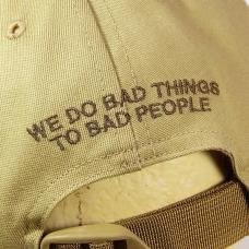 WE DO BAD THING BASEBALL CAP / TAC-T