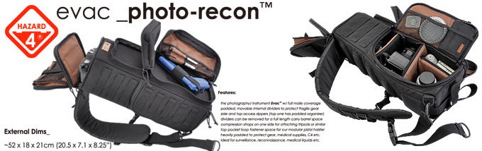 PHOTO RECON TACTICAL CAMERA BAG / HAZARD4