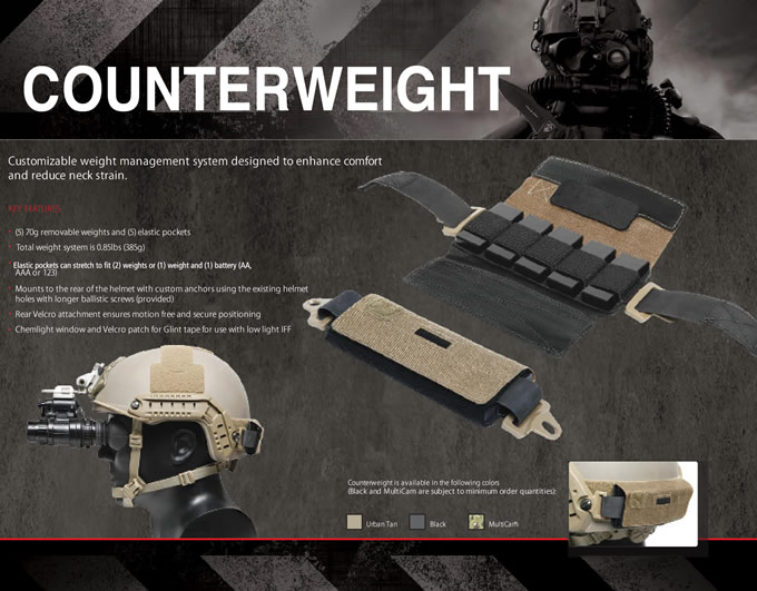 FAST REAR COUNTERWEIGHT / OPS-CORE